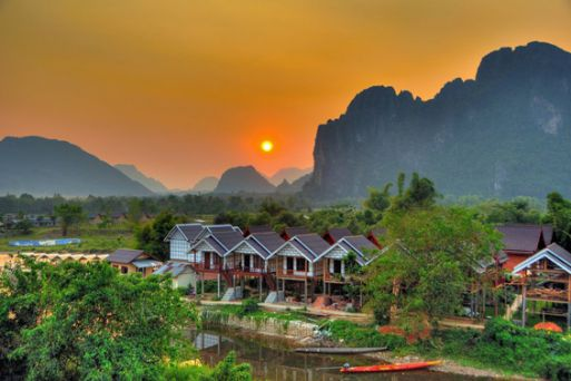 Vang Vieng, a peaceful town inm Laos