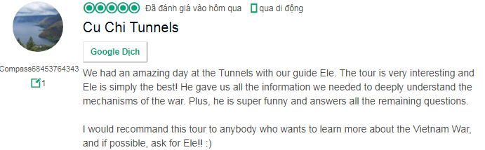 Explore Classic Cu Chi Tunnels Half Day Luxury Group 21/11