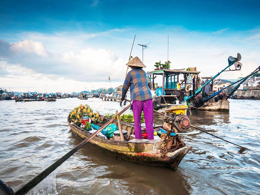 Floating Market - Mekong Delta- Vietnam Travel Group